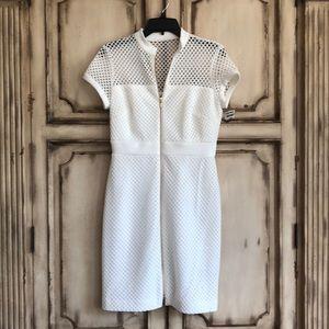 Dresses & Skirts - Stunning White Zip front dress